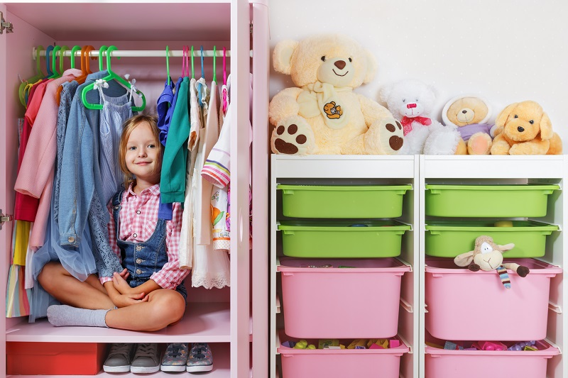 Dětská vestavěná skříň